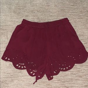 Brandy Melville Shorts - MAROON SHORTS